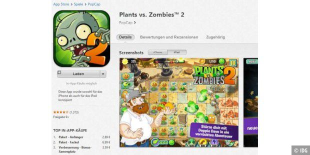 Plants vs. Zombies 2 für Android erschienen