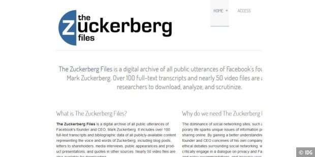 The Zuckerberg Files sammelt Reden des Facebook-Gründers Mark Zuckerberg