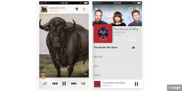 Google Play Music für Apples iPhone