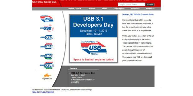 Website der USB Promoter Group
