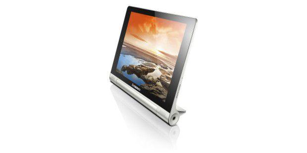 Steht von ganz alleine: Android-Tablet Lenovo Yoga Tablet 10 im Test