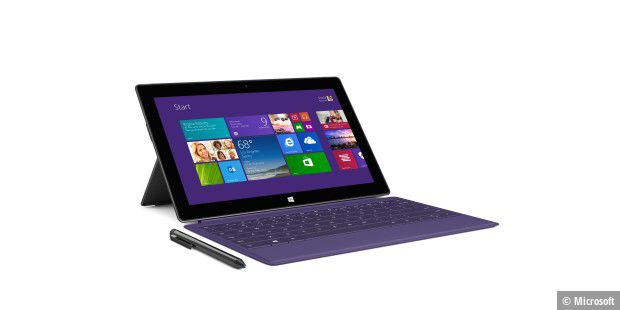 Ideales Arbeits-Tablet - vor allem mit der optionalen Tastatur: Microsoft Surface Pro 2