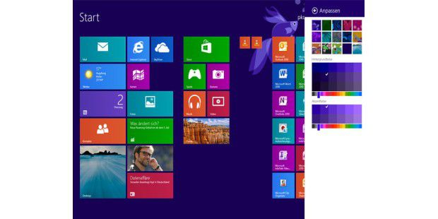 Windows 8.1 im Aktion.