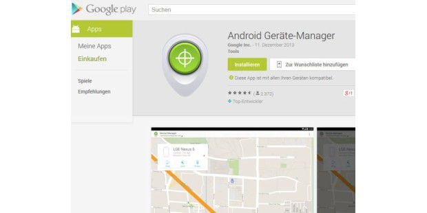 Android Geräte-Manager auf Google Play zum Download