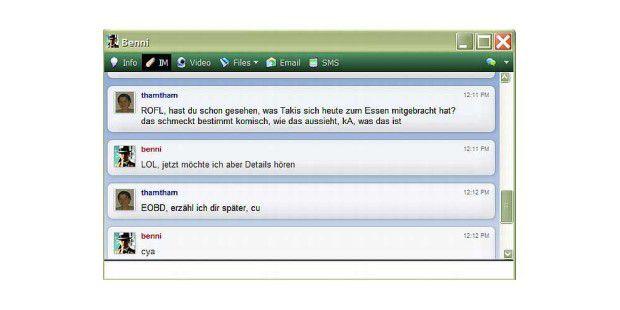 Internet-Kürzel übersetzt