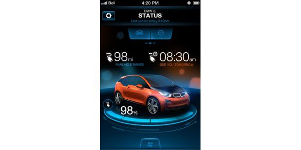 ConnectedDrive-App für den BMW i3
