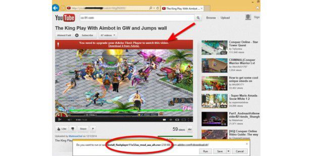 Youtube-Imitation verbreitet Wurm
