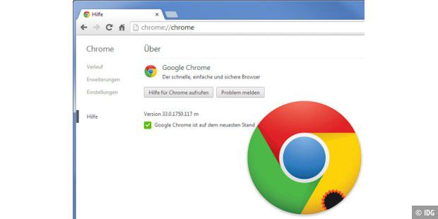 Update auf Chrome 33