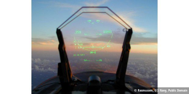 Head-Up-Display einer FA-18 Hornet