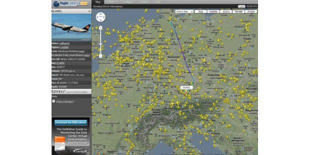 flightradar24.com: Wo fliegen Sie denn hin?