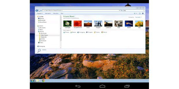 Die Chrome Remote Desktop App für Android