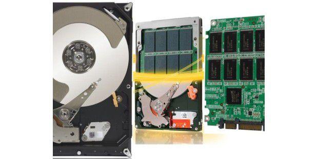 SSD versus klassische Festplatte versus Hybrid-Laufwerk: Duell der Speicher-Techniken