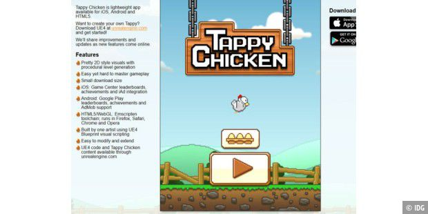 Tappy Chicken nutzt Unreal Engine 4