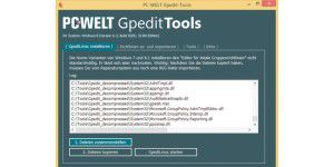 Sicherheits-Kniff: PC-WELT-Gpedit-Tools