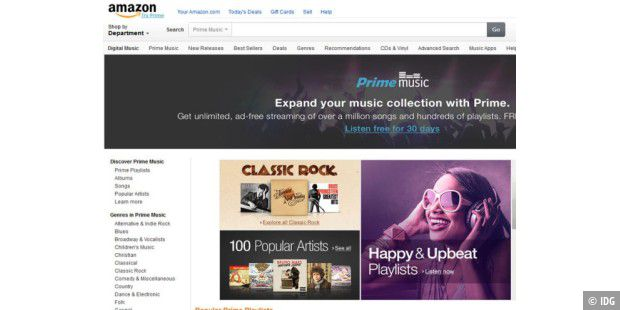 amazon prime music ist gestartet pc welt. Black Bedroom Furniture Sets. Home Design Ideas