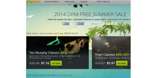 Summer Sale bei Gog.com