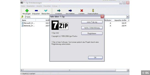 Gratis-Packer: 7zip