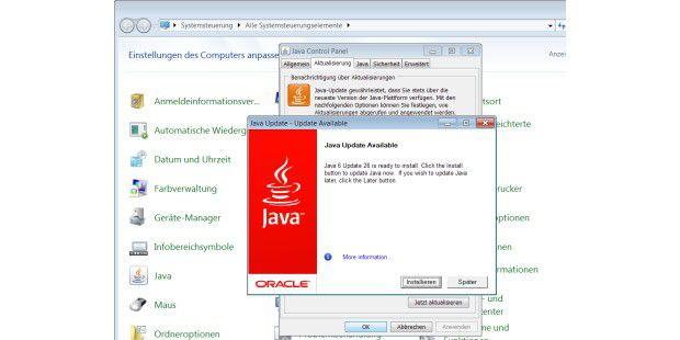 nach Java Updates suchen