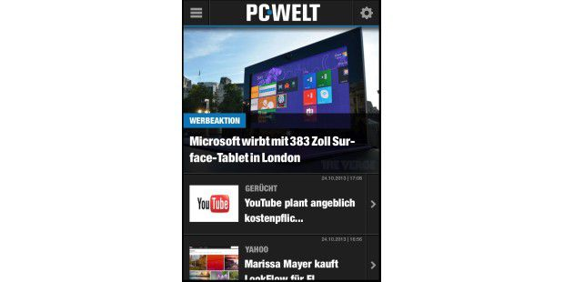 "iPhone-App ""PC-WELT Online"""