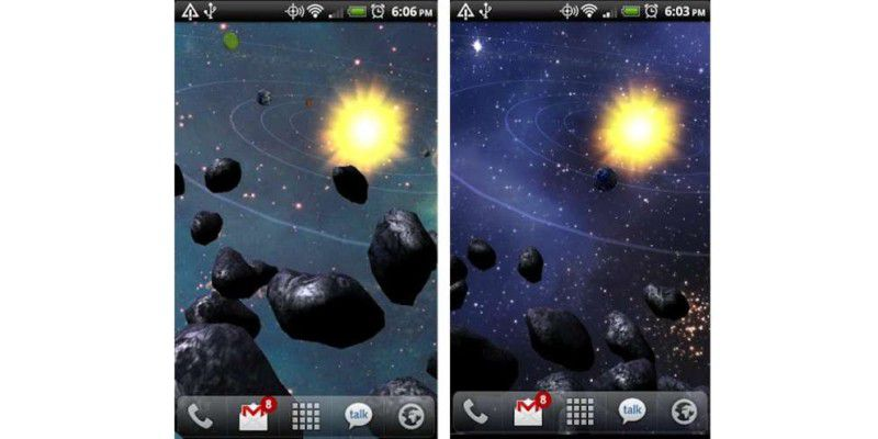 Coole live wallpaper für android smartphones