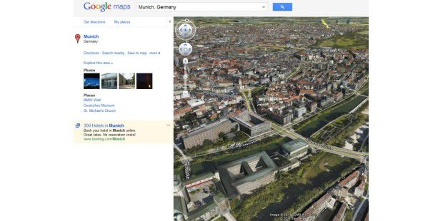 Google Maps mit Earth-Plugin