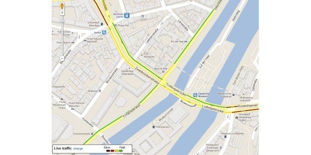 Verkehrslage auf Google Maps
