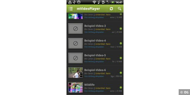 "Android-App ""mVideoPlayer"""