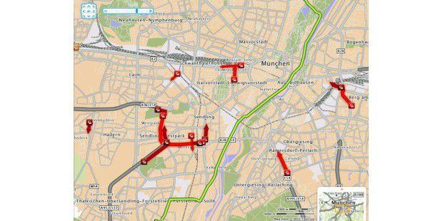 TomTom Live Traffic zeigt exakt an, wo sich der Verkehr staut. Dank der Daten von TomTom HD Traffic.