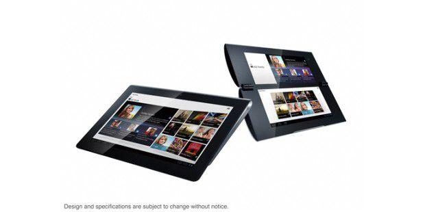 Sony Tablet S und P: Die Tablets heben sich durchauffällige Gehäuse von anderen Tablet-PCs ab.