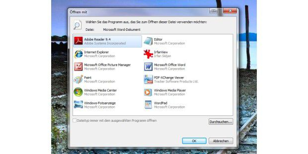 Der Standard-Windows-Dialog.