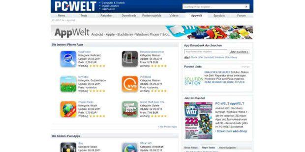 App-Datenbank der PC-WELT