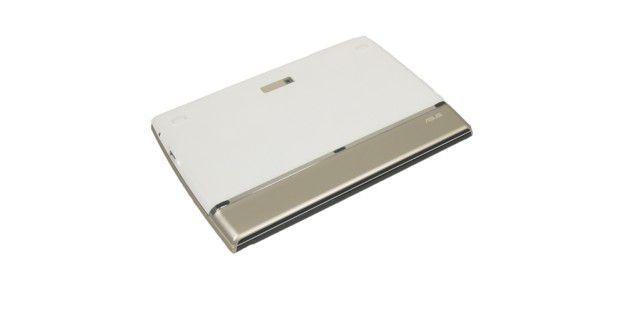 Rückseite des weißen Modells des Asus EeePadSlider