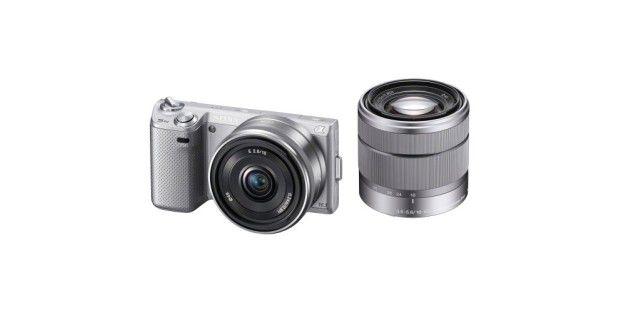 Die Sony NEX-5N ist in schwarz oder silberfarbenerhältlich.