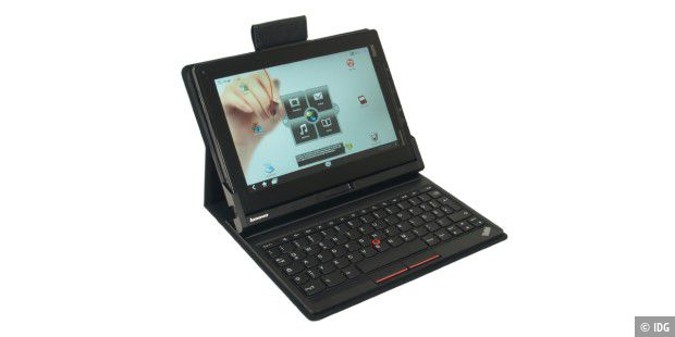 Im Keyboard Folio Case wird das Lenovo Thinkpad Tablet zum Netbook