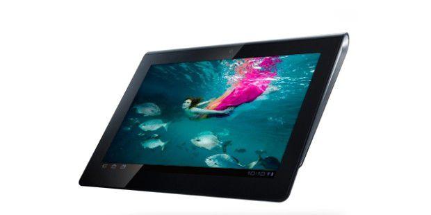 Leicht keilförmig: das Sony Tablet S.