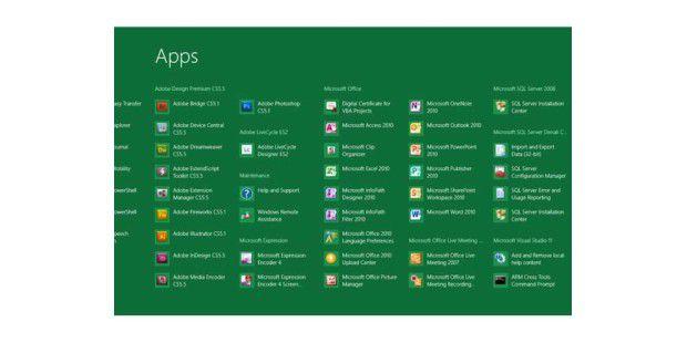 Microsoft überarbeitet den Windows-8-Startbildschirm