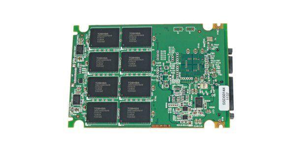 Rückseite der SSD-Platine der Extrememory XLR8 Express120GB