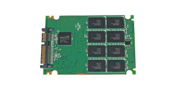 Vorderseite der SSD-Platine der Extrememory XLR8 Express120GB