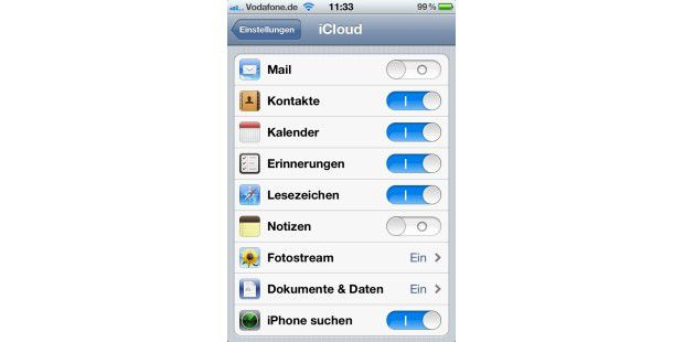 iPhone 4S mit dem neuen iOS und iCloud