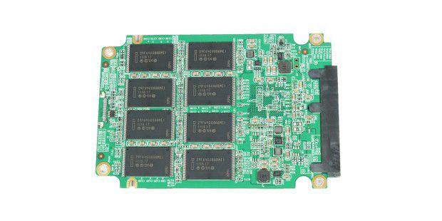 Rückseite der SSD-Platine der Adata S511 120GB