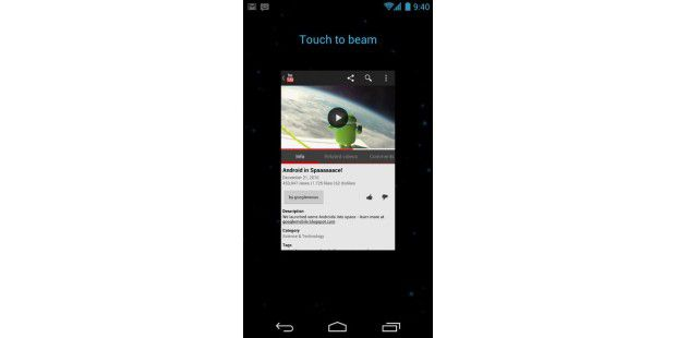 Schneller Datenaustausch über Android Beam