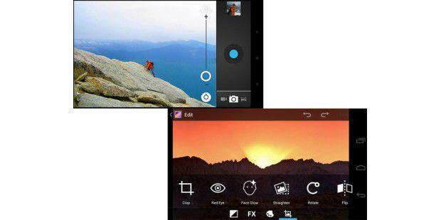 Verbesserte Kamera-Software mitBearbeitungs-Modus