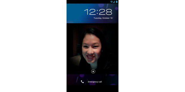 Geräte mit Android 4.0 über Gesichtserkennungentsperren.
