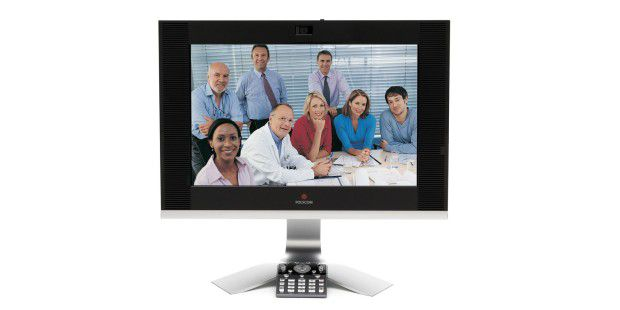 Im Gegensatz zu vielen anderen Tools bietet 8x8 VirtualRoom skalierbare Unterstützung für Videotelefone undFernanwesenheits-Hardware.