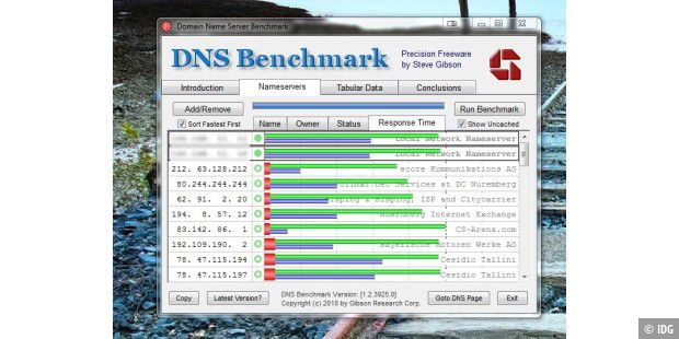 Freeware: DNS Benchmark