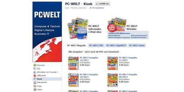 Der neue Facebook-Kiosk der PC-WELT.