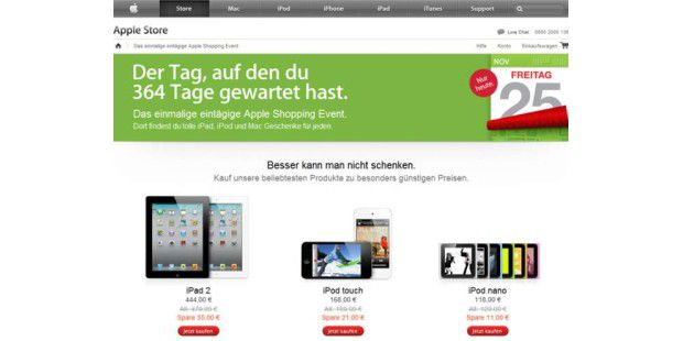 Black Friday bei Apple