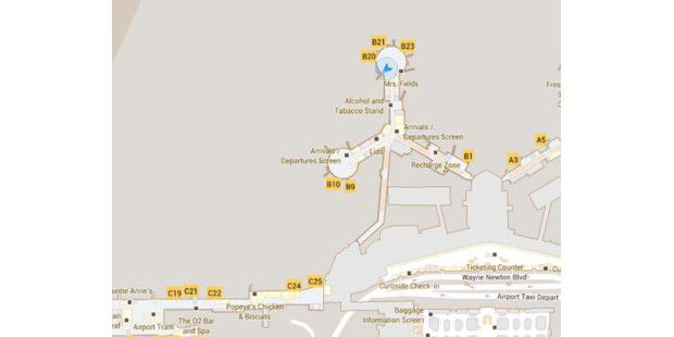 Google Maps Indoor in Aktion