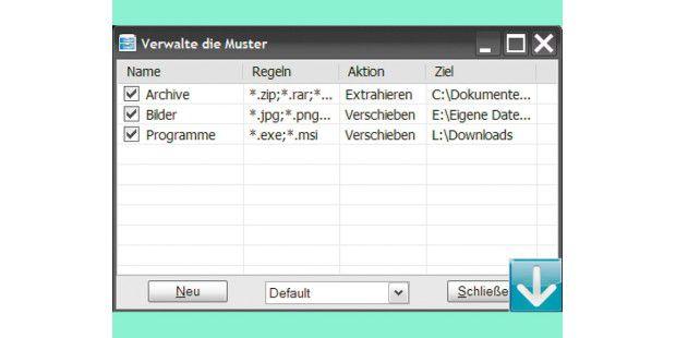 Mit Drop It können Dateien automatisch in einen gewähltenOrdner verschoben werden.