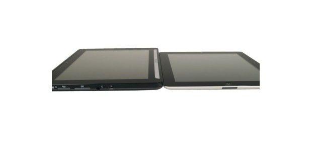So schlank wie das Apple iPad 2 ist das Aldi-Tabletnicht